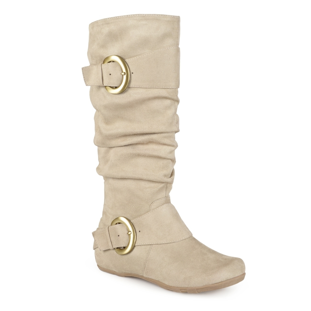 6441fb6838e Shop Journee Collection Women s  Jester-01  Slouch Buckle Boot - On Sale -  Free Shipping Today - Overstock - 3469442