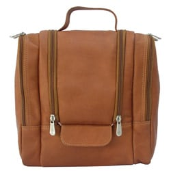 Shop Piel Top Grain Leather Hanging Travel Toiletry Kit - Free Shipping  Today - Overstock - 3469751 df705e3ca5099