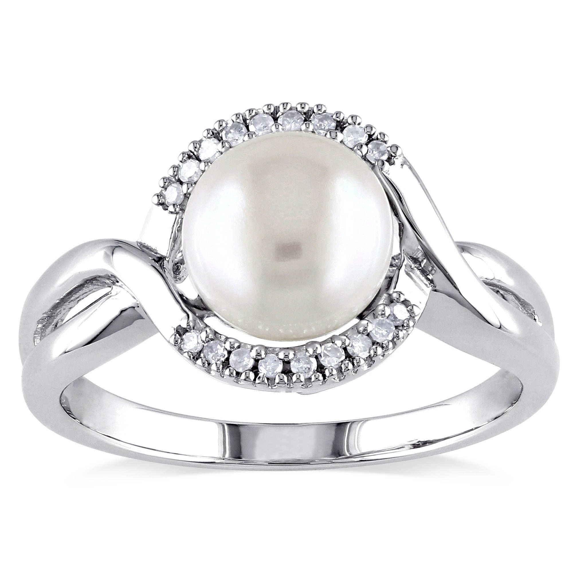 engagement wedding rings silver rsj arthurs collection pearl product designer sterling picture of