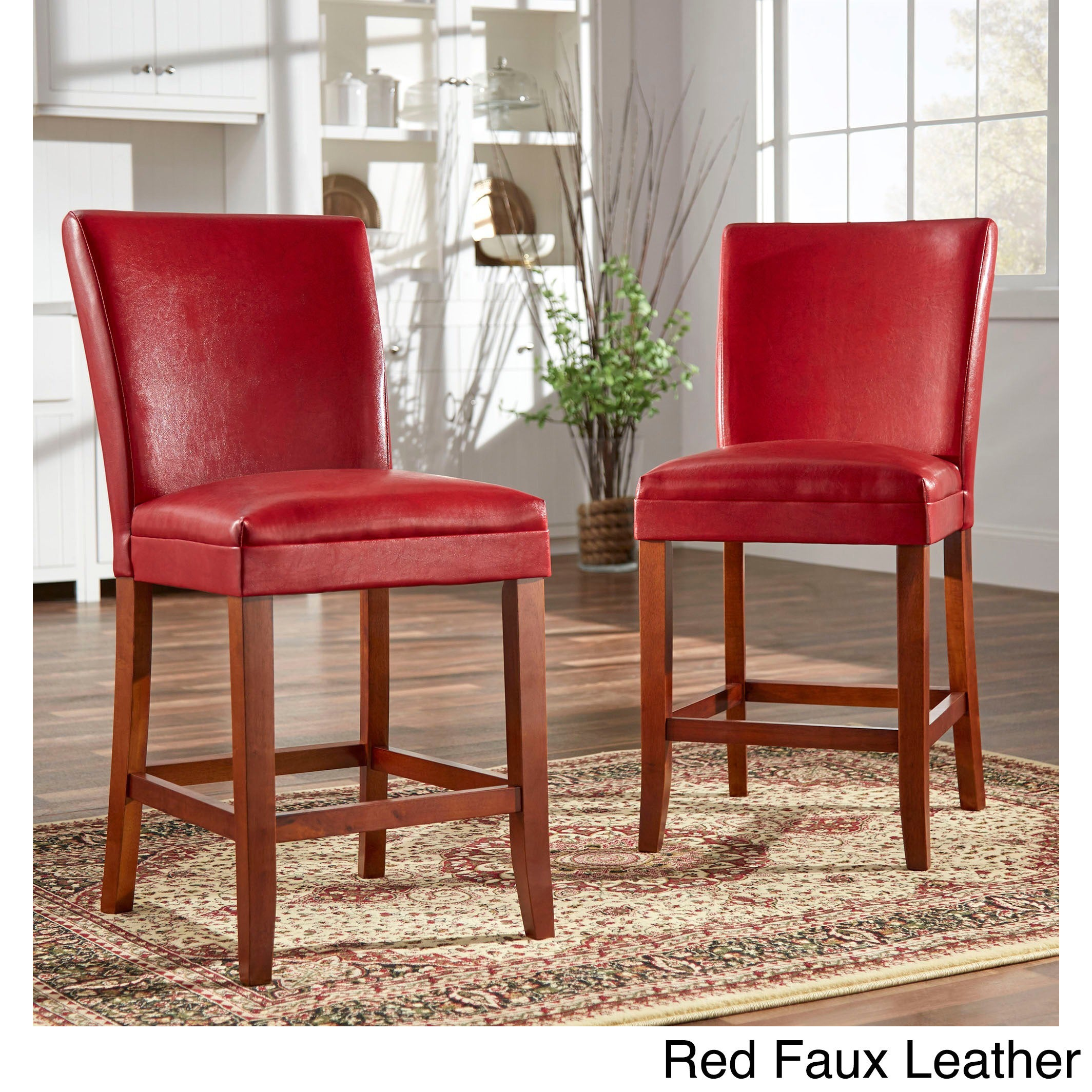 Shop Parson Classic Upholstered Counter Height High Back Chairs (Set Of 2)  By INSPIRE Q Bold   Free Shipping Today   Overstock.com   3471658