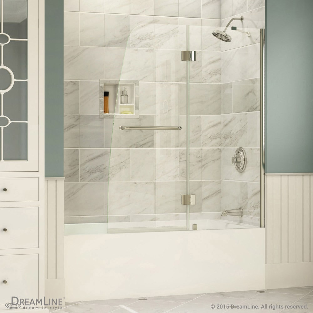 DreamLine Aqua 48 in. Frameless Hinged Tub Door - Free Shipping ...