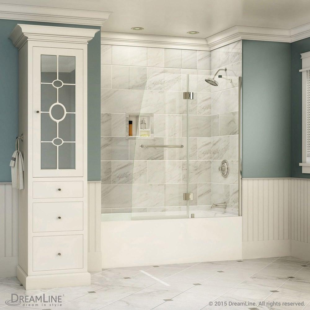 DreamLine Aqua 48-inch Frameless Hinged Tub Door - Free Shipping Today - Overstock.com - 11548973 & DreamLine Aqua 48-inch Frameless Hinged Tub Door - Free Shipping ...