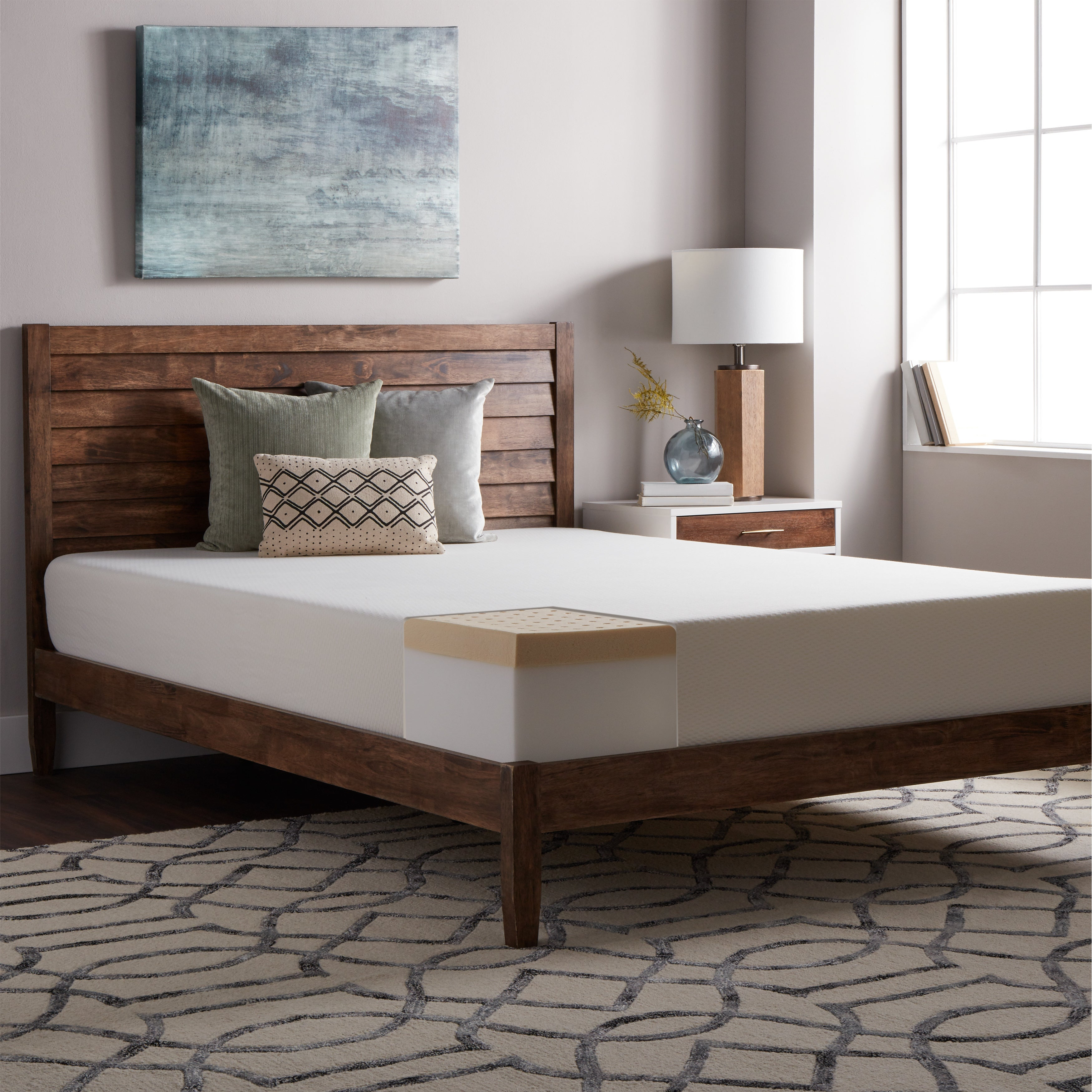 NuForm Talalay Latex 3 inch Mattress Topper Free Shipping Today