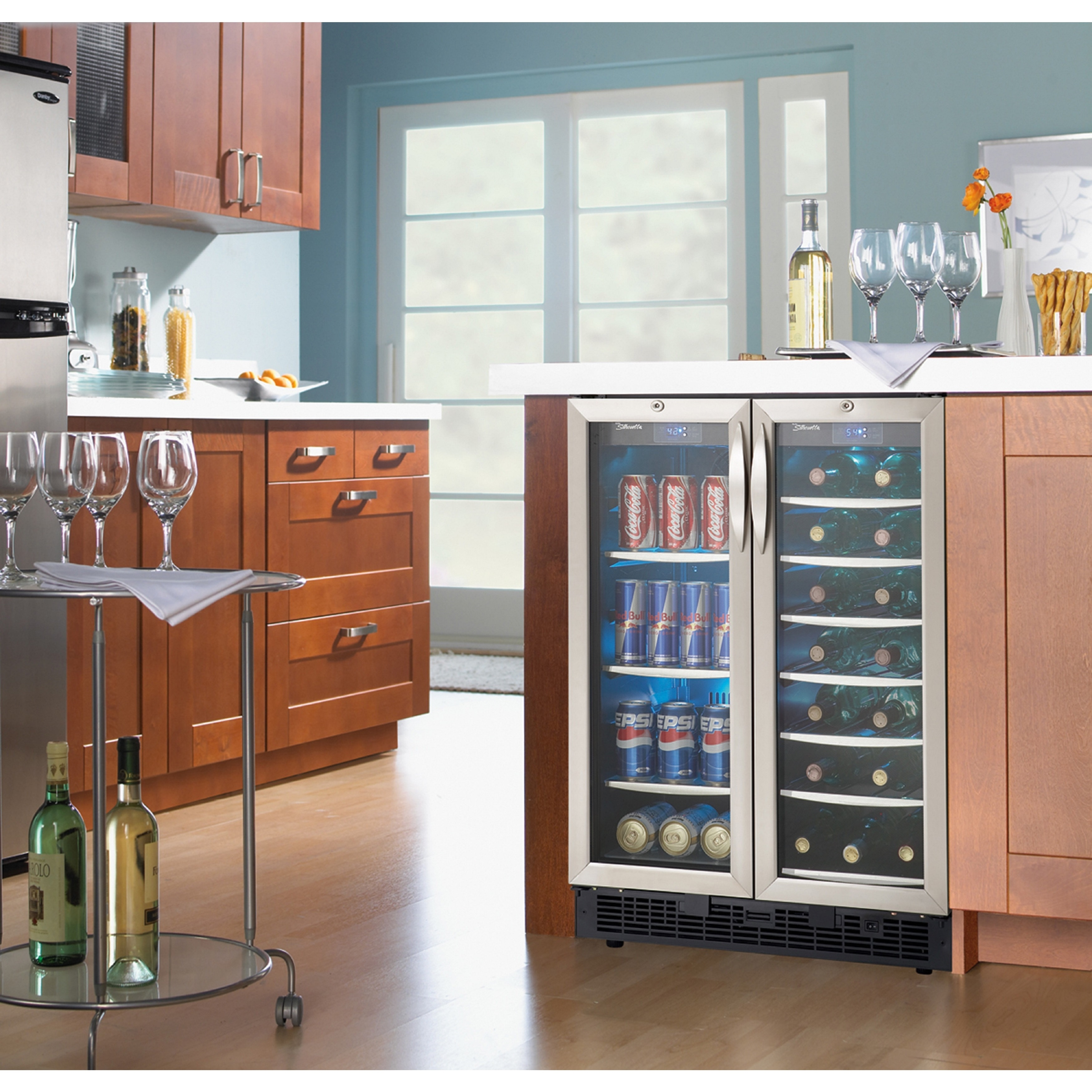 cooler at to bottle show wall kitchen first vinotemp the refrigerator industrys s bath pressroom countertop countertops national kbis wine vt industry wm launch mounted