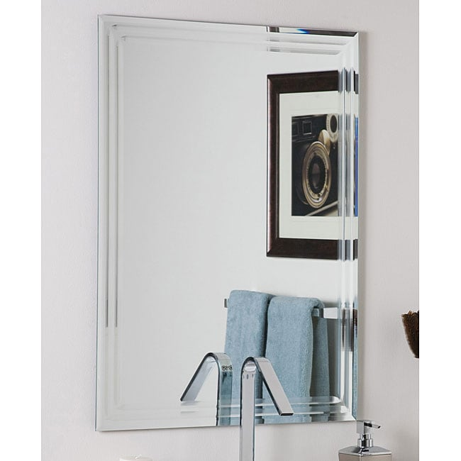 Shop Decor Wonderlad Frameless Tri Bevel Wall Mirror Free Shipping