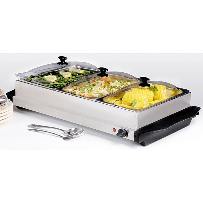 Remarkable Stainless Steel 3 Section Buffet Server Warmer Interior Design Ideas Apansoteloinfo