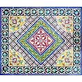 Antique Looking Persian Area Rug Architectural 'Bushehr Design' 30 Tile Ceramic Wall Art