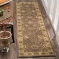 Safavieh Handmade Heritage Traditional Kerman Brown/ Ivory Wool Runner (2'3 x 8')