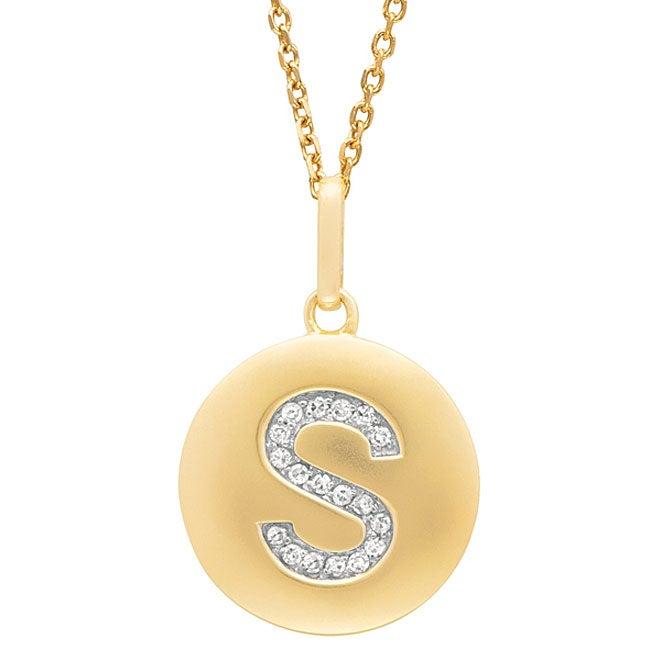 14k yellow gold diamond initial monogram disc necklace free 14k yellow gold diamond initial monogram disc necklace free shipping today overstock 11718425 mozeypictures Choice Image