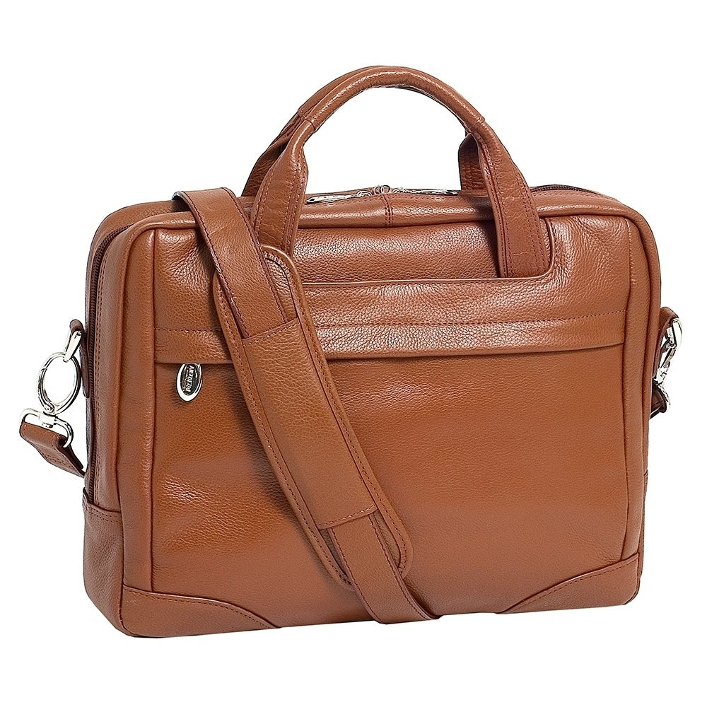 6b2263e3aad2 McKlein Brown Bridgeport Large Leather Laptop Briefcase