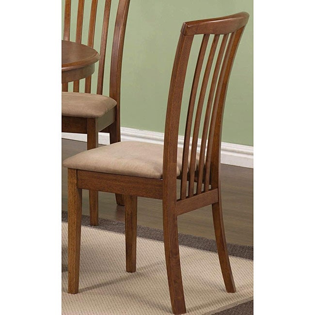 Shop Cherry Oak Wood Slat Back Chairs (Set Of 2)   Free Shipping Today    Overstock.com   3678396