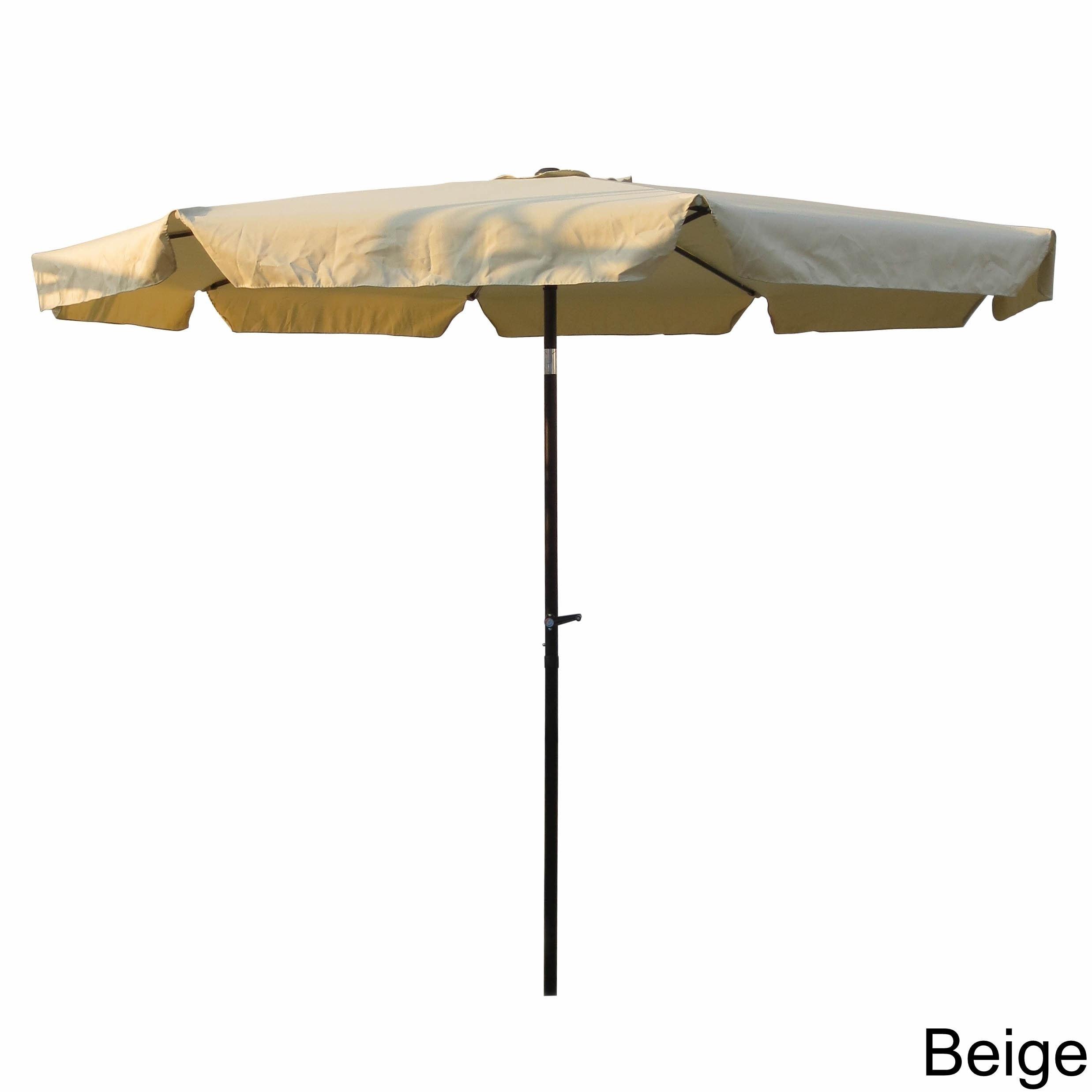 International Caravan Aluminum 10 foot Patio Umbrella Free