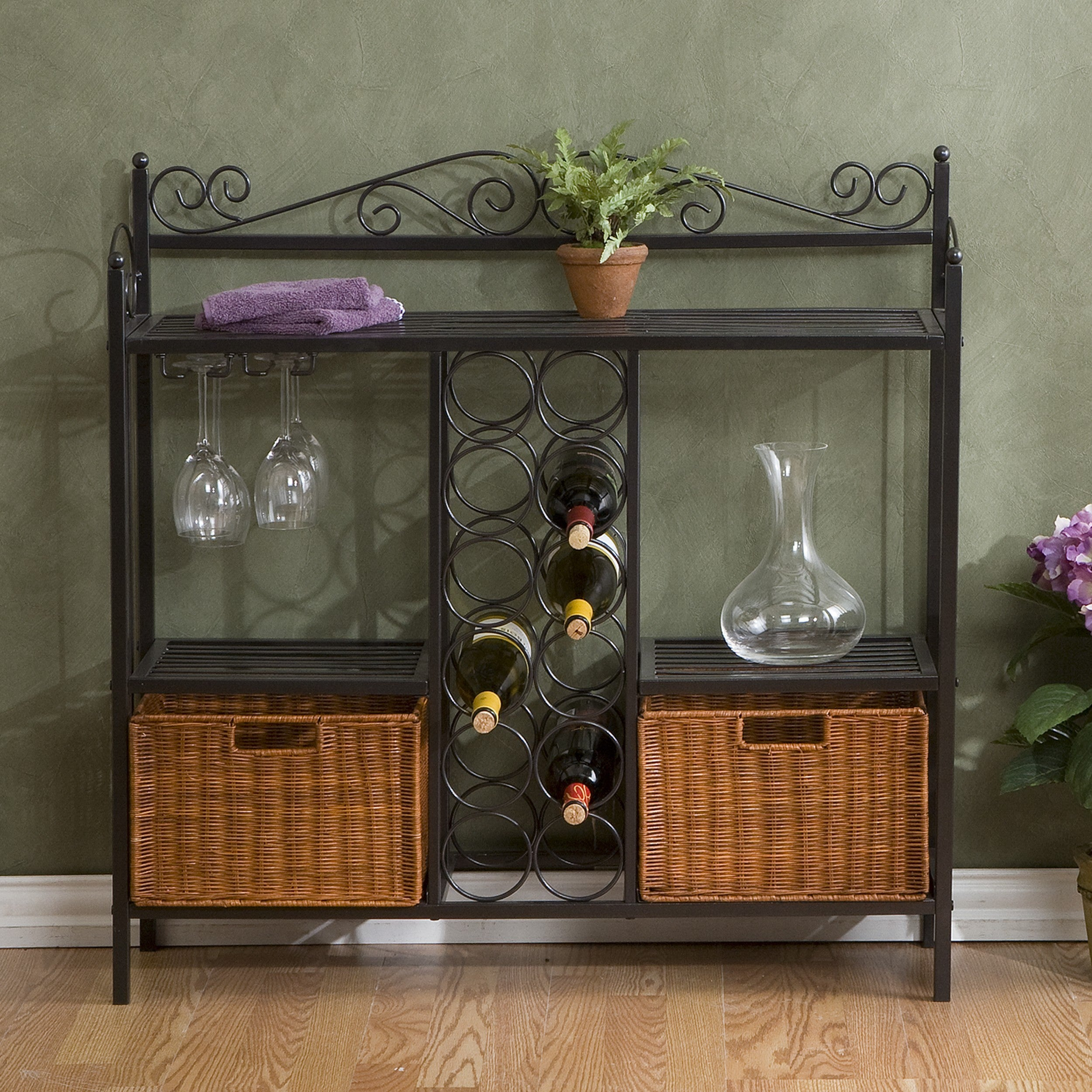Harper Blvd Baker S Rack With 12 Bottle Wine Storage On Free Shipping Today 3684083
