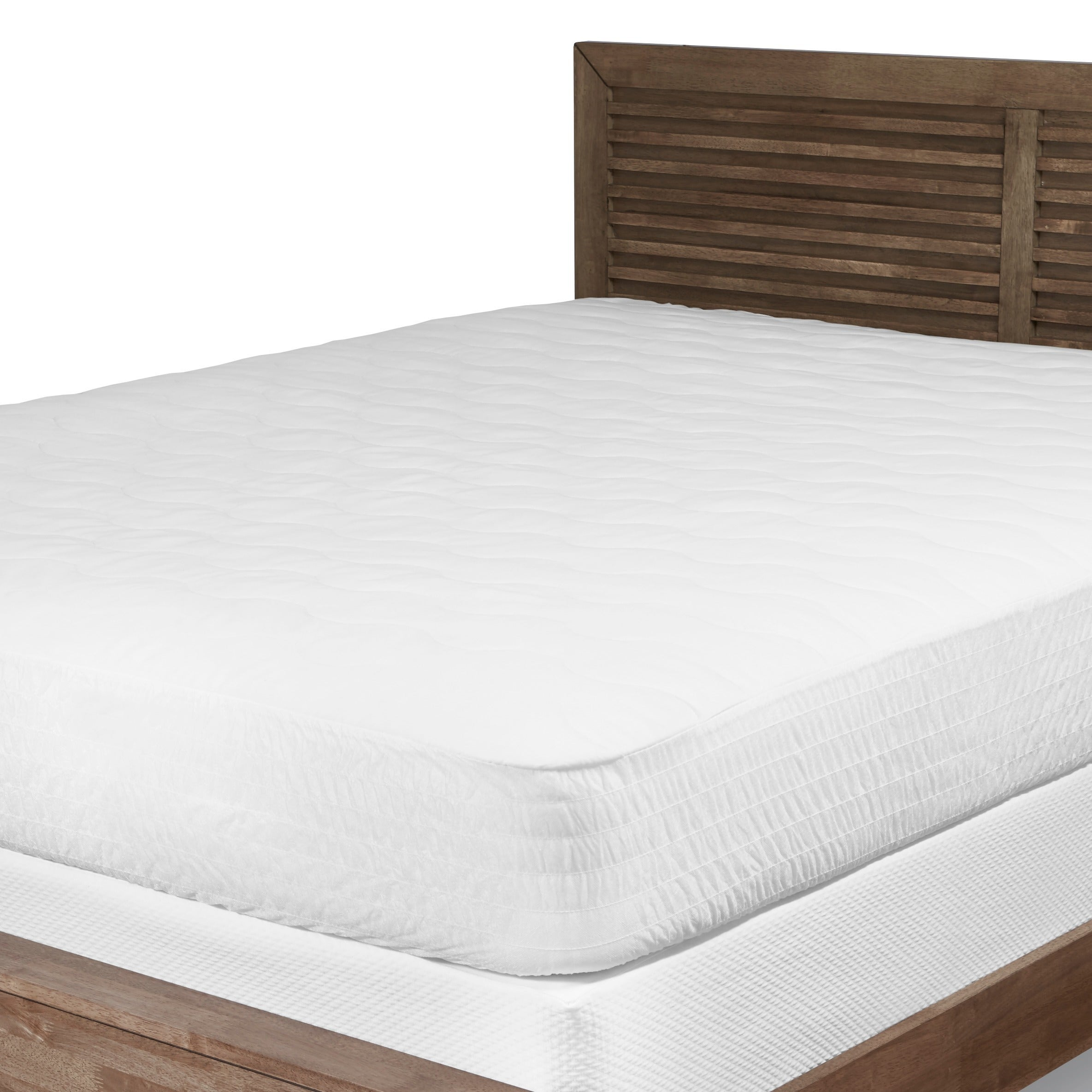Beautyrest Cotton Top Mattress Pad with Expand A Grip Free