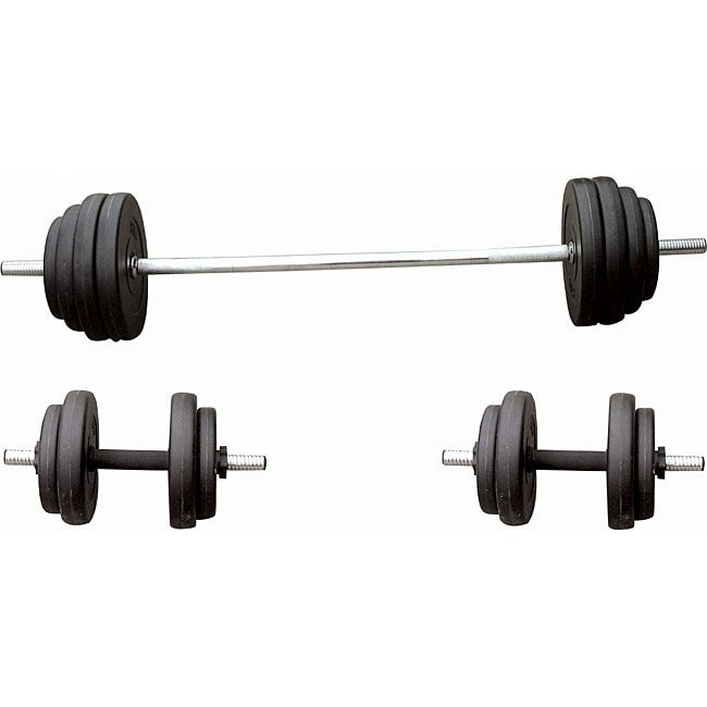 061 100 Pound Vinyl Weight Set Free Shipping Today 3705740