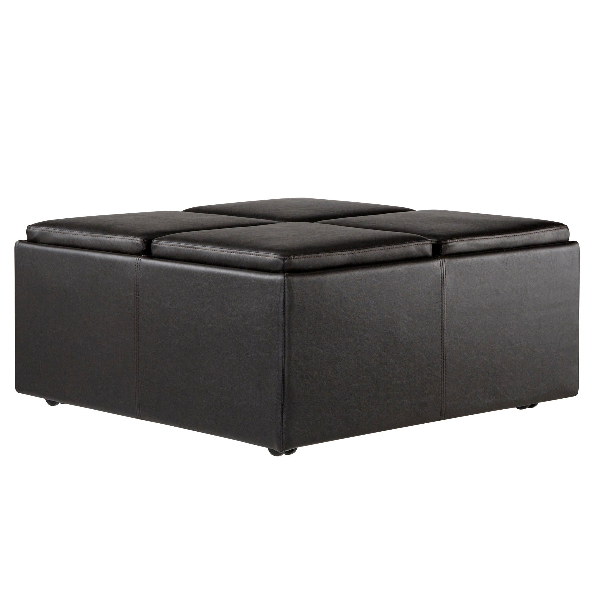 Charmant Shop Montrose Faux Dark Brown Leather Multipurpose Storage Ottoman By  INSPIRE Q Classic   On Sale   Free Shipping Today   Overstock.com   3725836