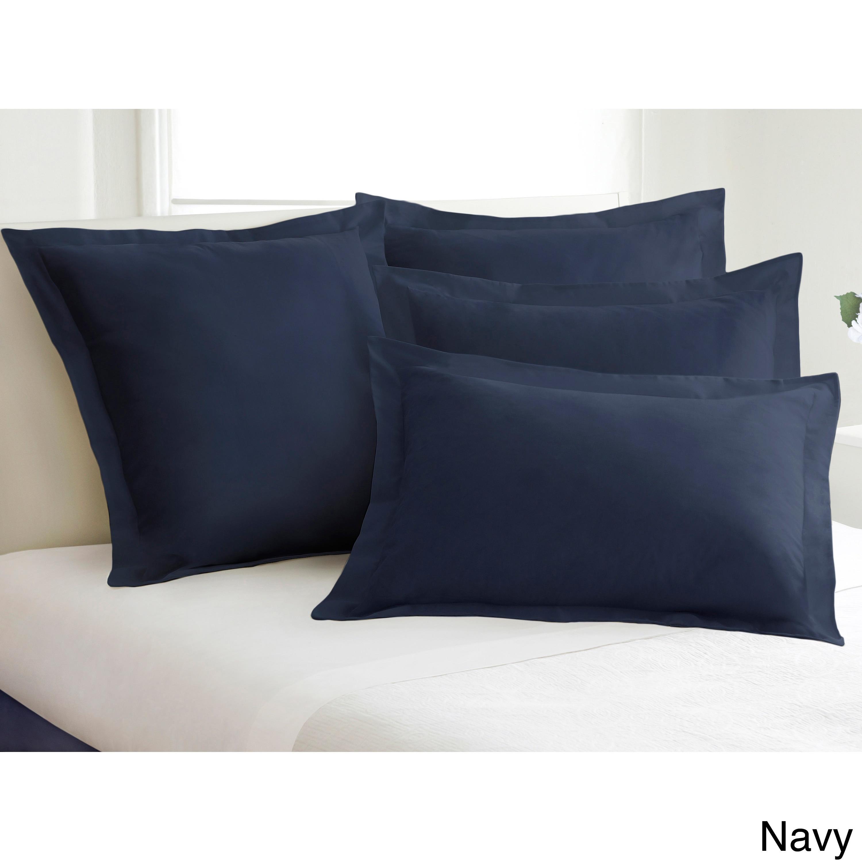 shop cotton blend poplin tailored decorative pillow shams pack of 2
