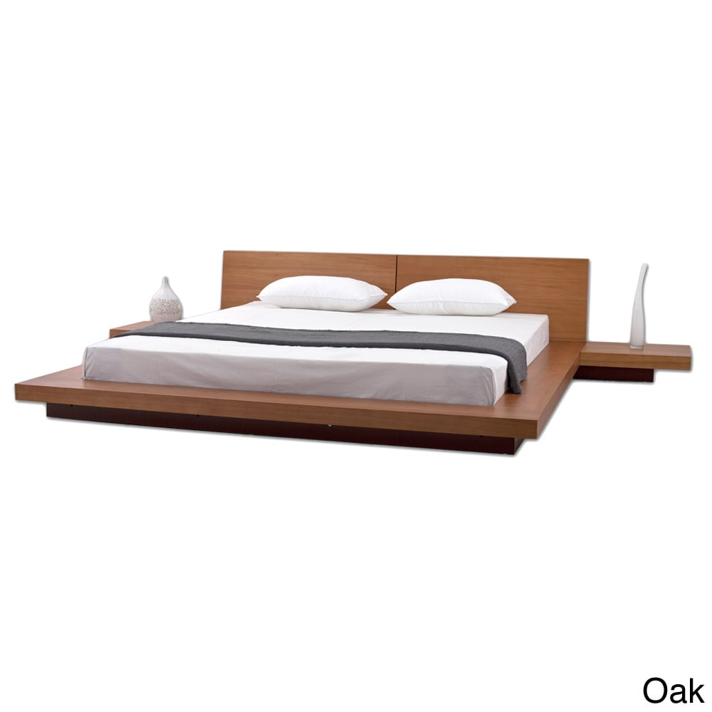 Fujian 3 Piece King Size Platform Mid Century Style Bedroom Set   Free  Shipping Today   Overstock   11868163