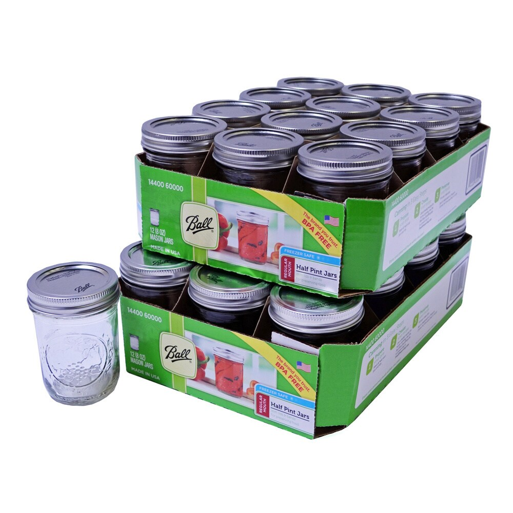 Ball Half Pint 8 Ounce Mason Jars Pack Of 24 Free Shipping On Orders Over 45 3827007