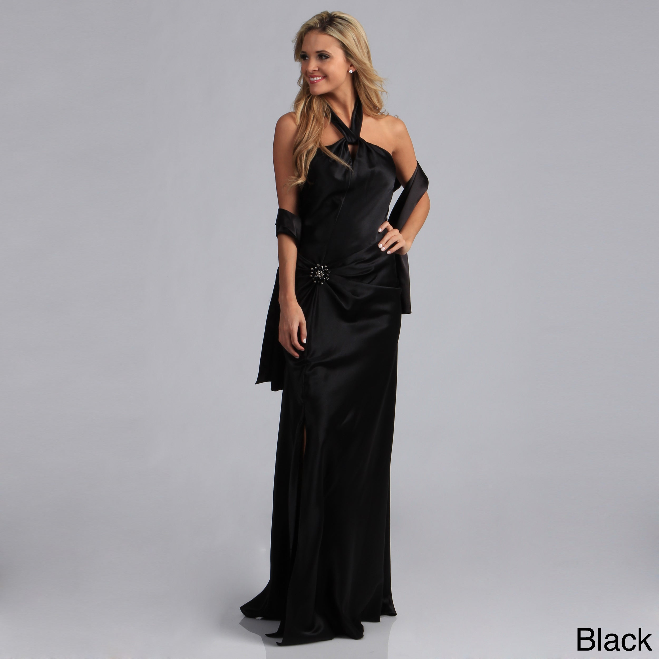 99fcb75f83c4 Shop Aspeed Women's Halter-style Formal Dress - Free Shipping Today -  Overstock - 3827297