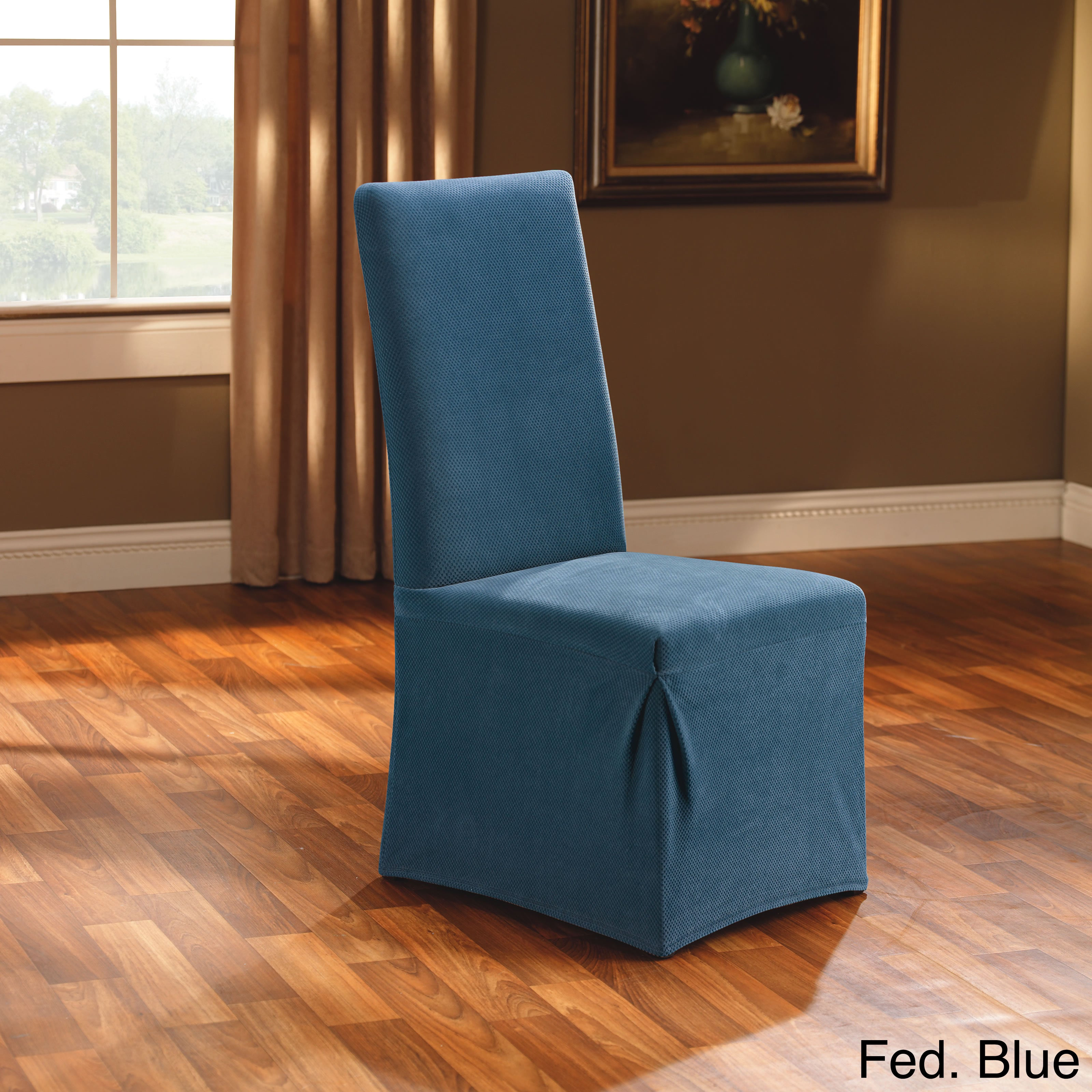 Stretch Dining Room Chair Slipcover   Free Shipping On Orders Over $45    Overstock   11886623