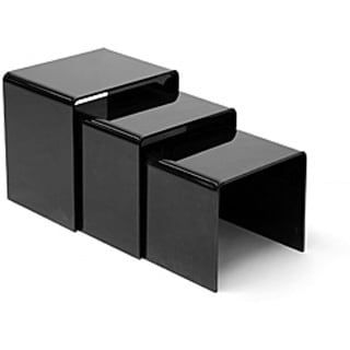 Shop alec black acrylic nesting end tables set of 3 free shop alec black acrylic nesting end tables set of 3 free shipping today overstock 3844998 watchthetrailerfo