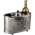 Antique Embossed Pewter 2-bottle Wine Chiller
