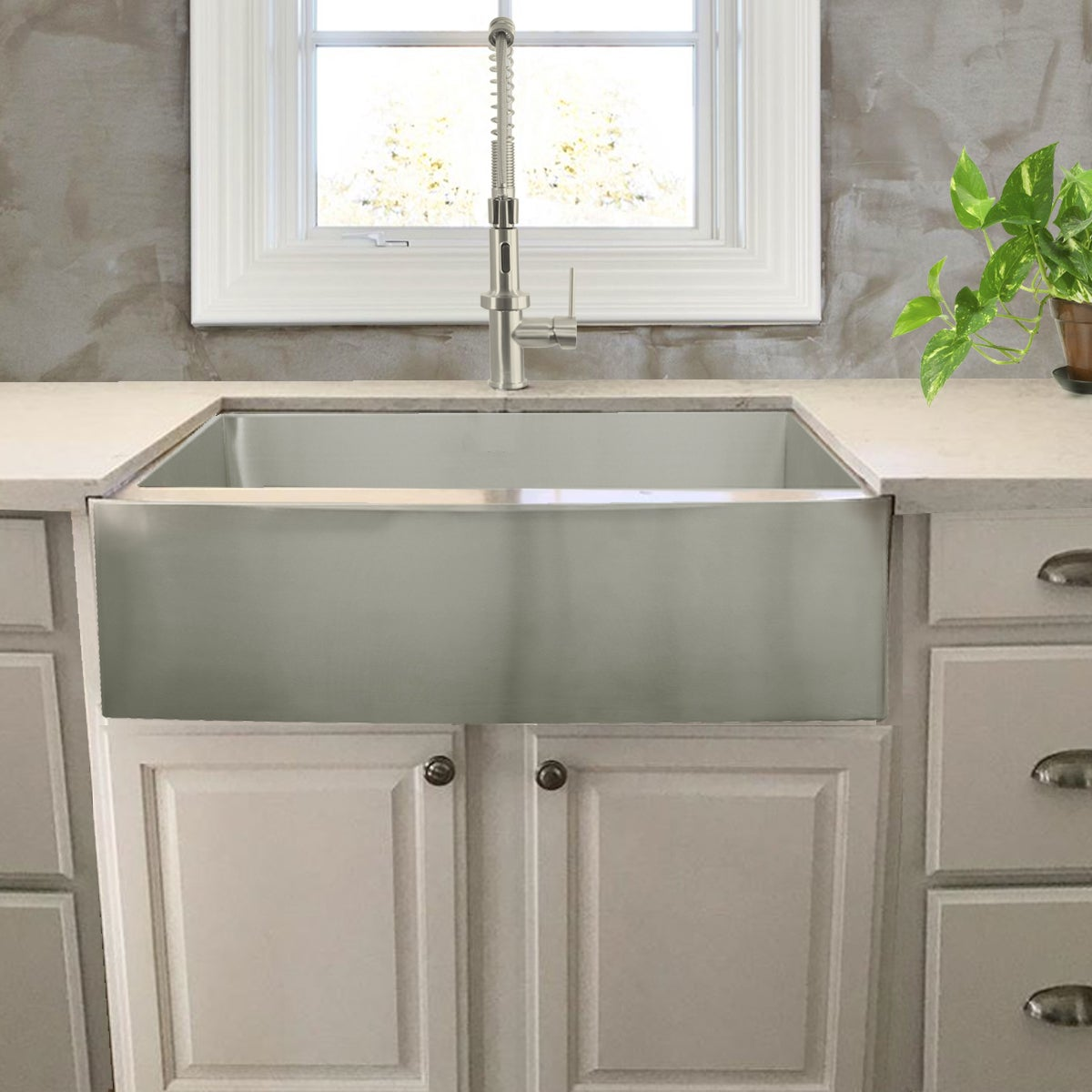 Shop Stainless Steel Single Bowl Apron Farmhouse Kitchen Sink With