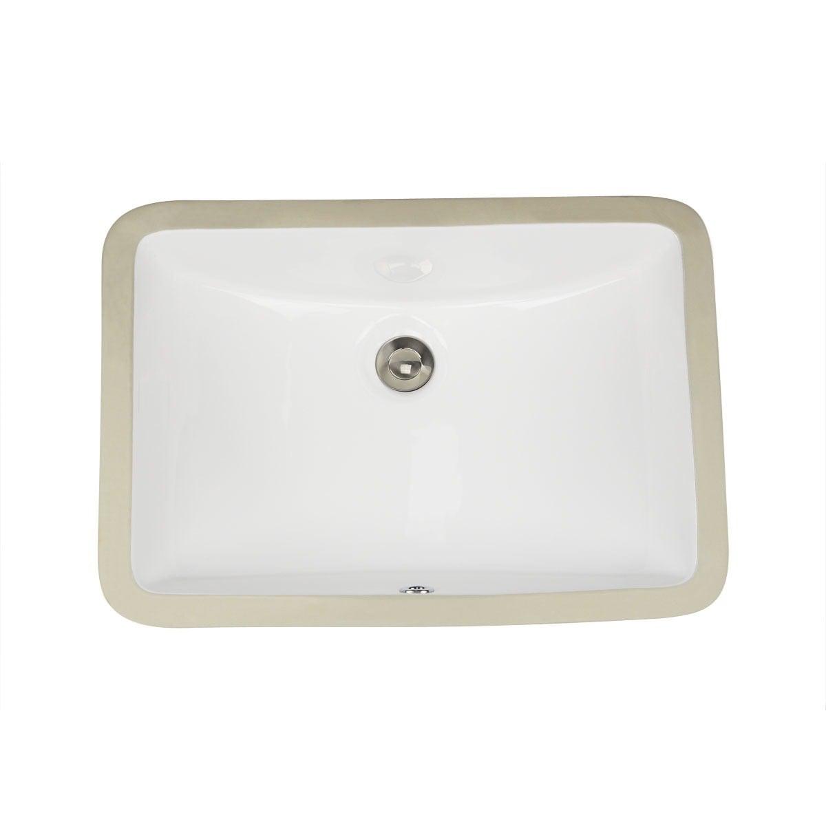Shop Highpoint Collection White Ceramic Undermount Vanity Sink ...