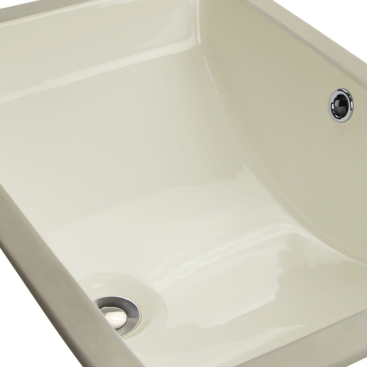 Shop Highpoint Collection Ceramic 18x12 Inch Undermount Vanity Sink   Bisque    Free Shipping Today   Overstock.com   3867436