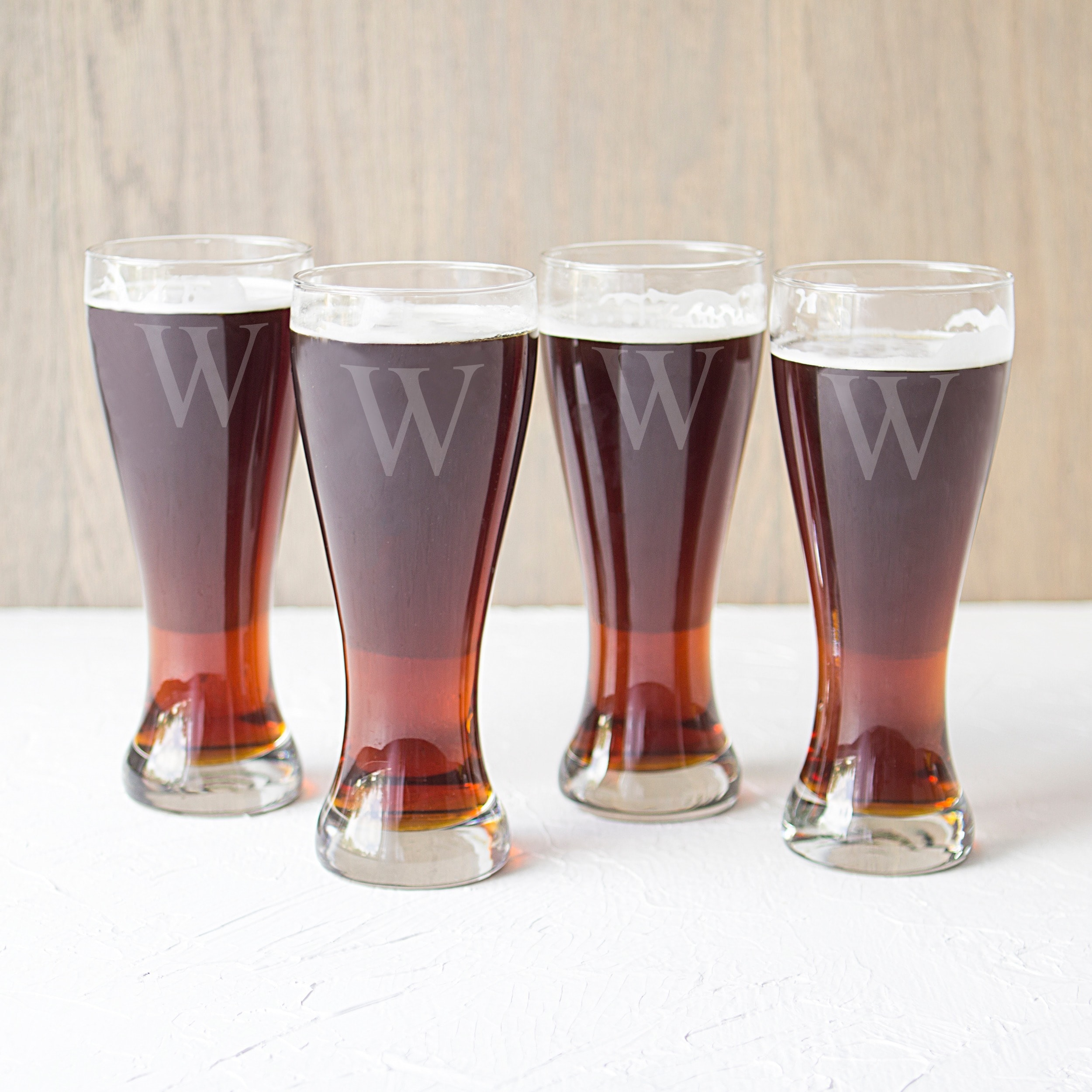 shop personalized pilsner glasses set of 4 free shipping on