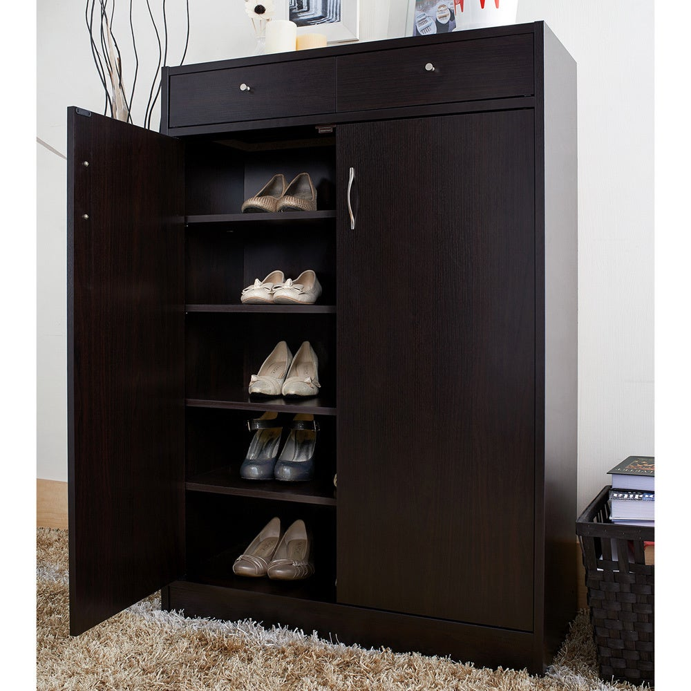 Furniture of America 5-shelf Shoe Cabinet with 2 Storage Bins - Free  Shipping Today - Overstock.com - 11923225
