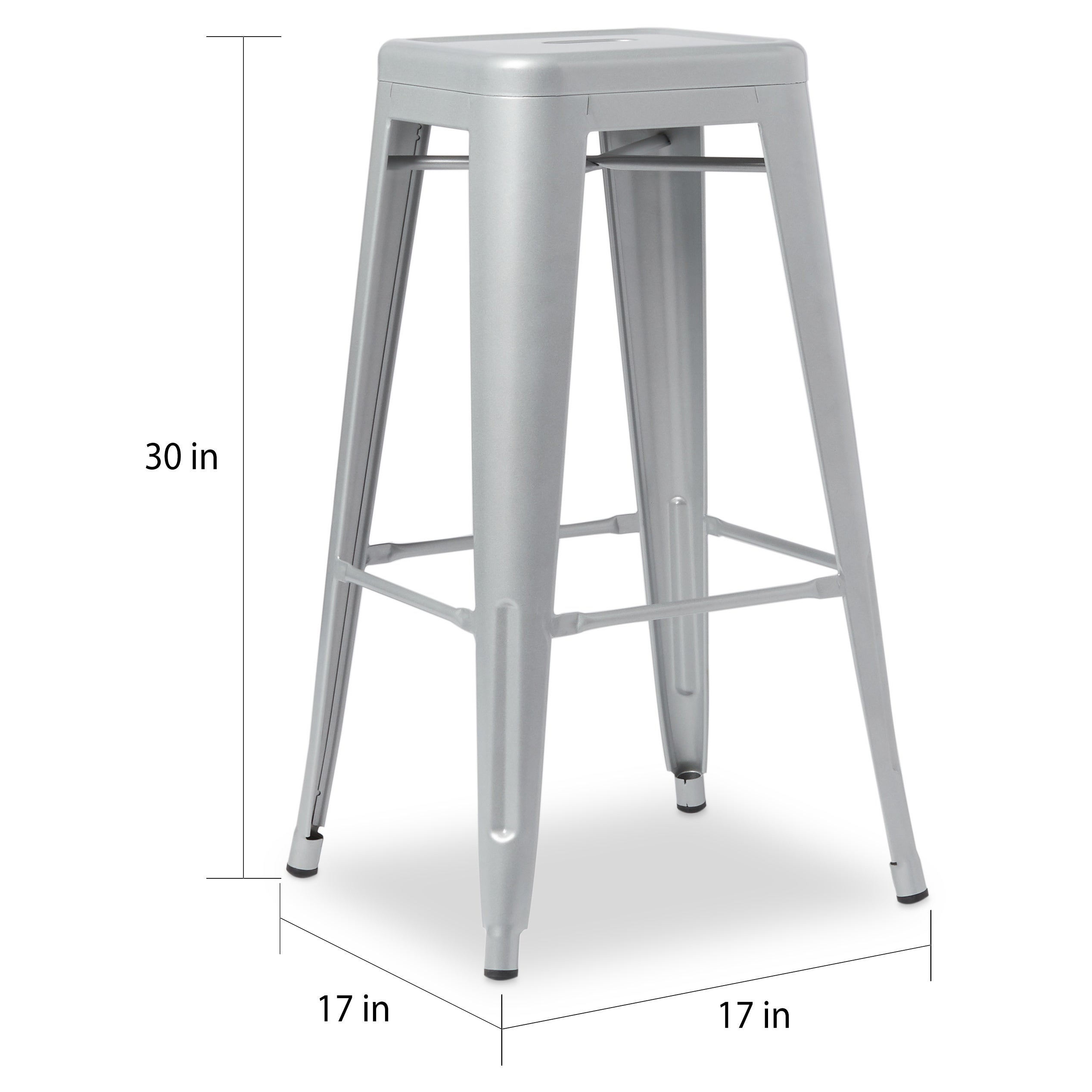 Tabouret 30 Inch Metal Barstools Set Of 2 Free Shipping Today 3879161