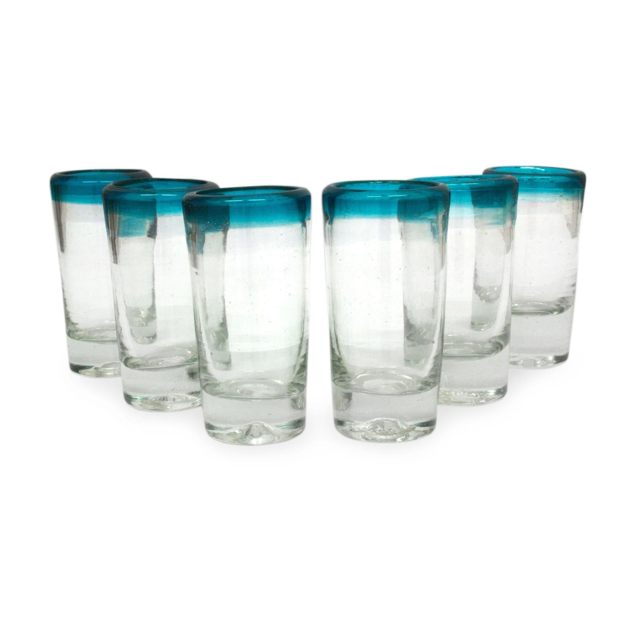 tapered bubble cordials glasses pin shot decorative set decor controlled of hand small blown