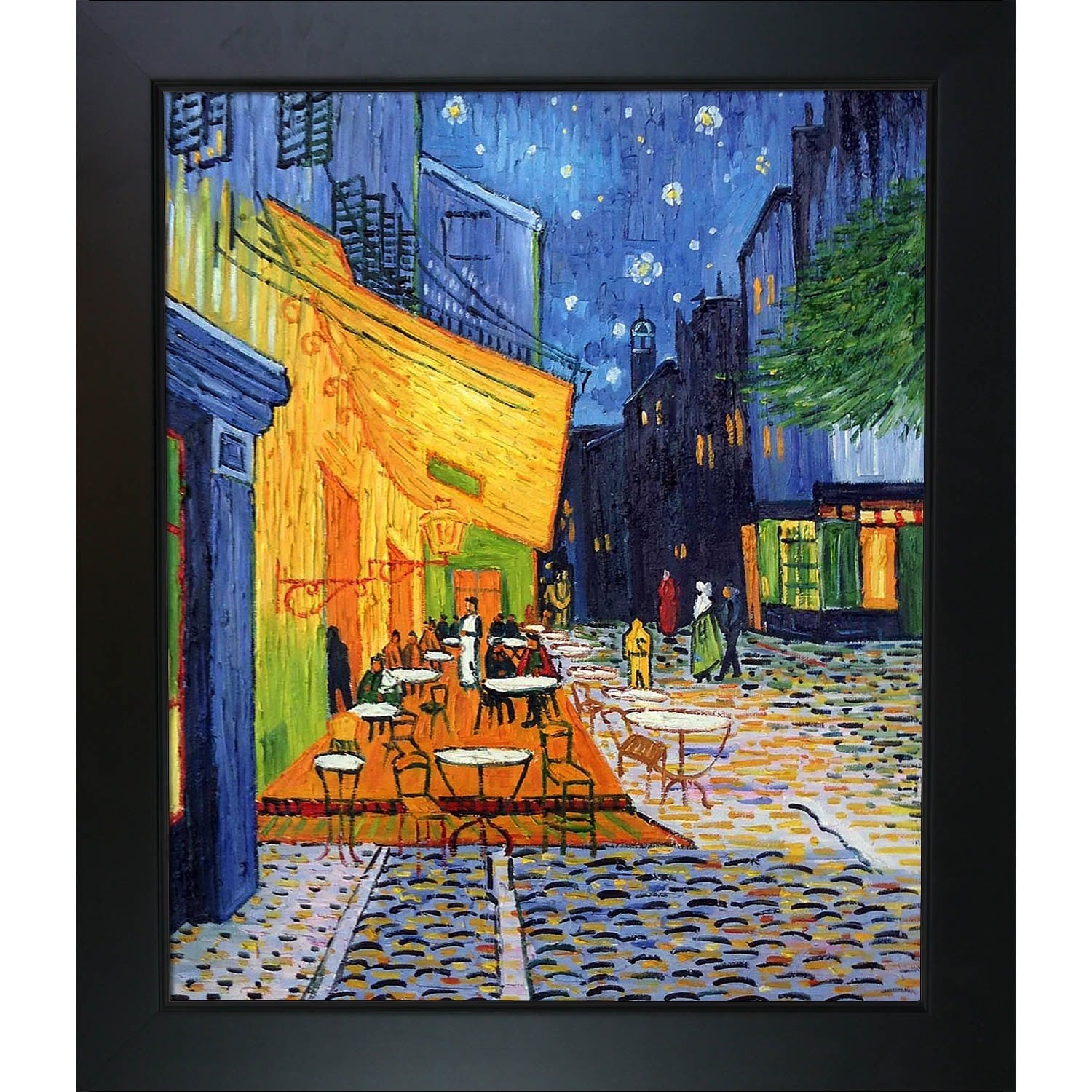 Fabulous Van Gogh 'Cafe Terrace at Night' Framed Art - Free Shipping Today  HQ45