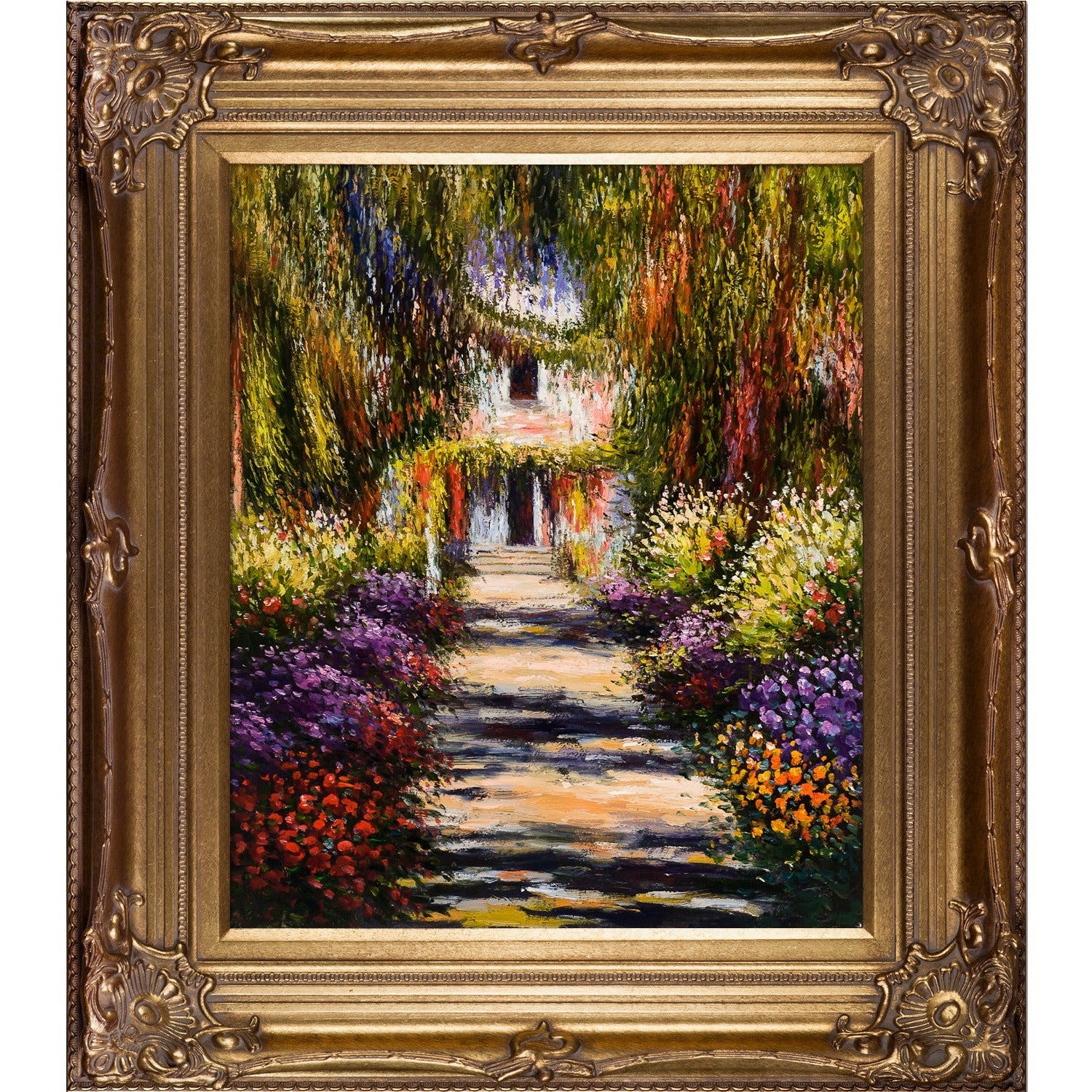 Shop Monet \'Garden Path at Giverny\' Canvas Art Oil Painting - On ...