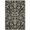 Safavieh Bimini Damask Black/ Sand Indoor/ Outdoor Rug (2'7 x 5')
