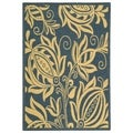 Safavieh Andros Blue/ Natural Indoor/ Outdoor Rug (4' x 5'7)