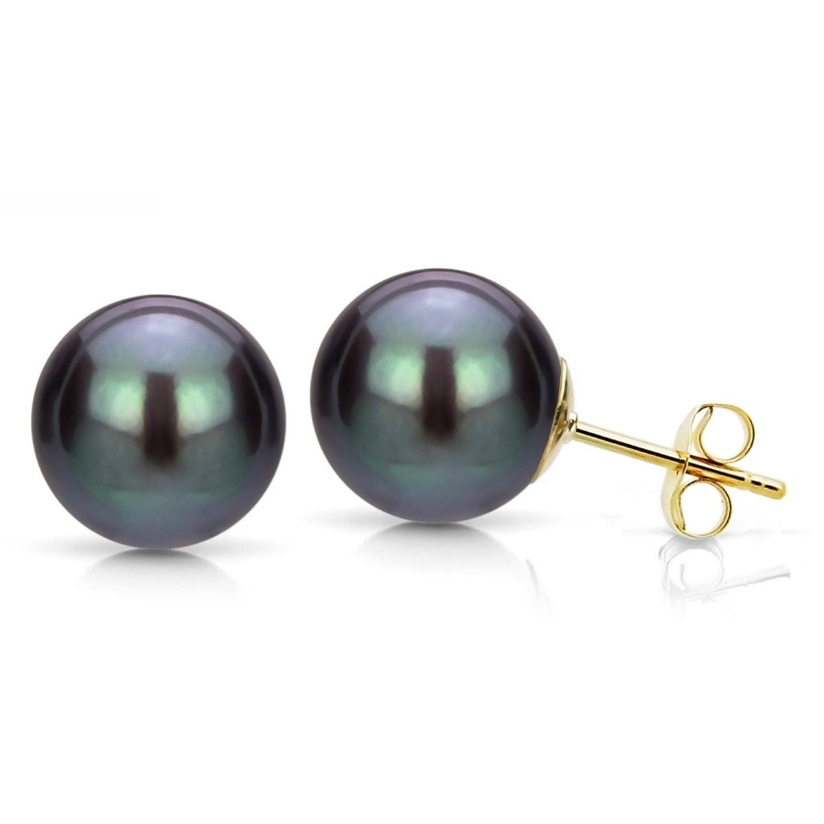 b647f9dc6 Shop DaVonna 14k Yellow Gold 6-7mm Round Freshwater Pearl Stud Earrings -  Free Shipping Today - Overstock - 38992