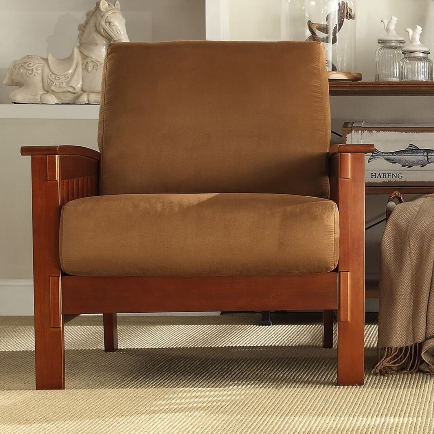 Hills Mission-Style Oak Accent Chair by iNSPIRE Q Classic - Free Shipping  Today - Overstock.com - 11947568