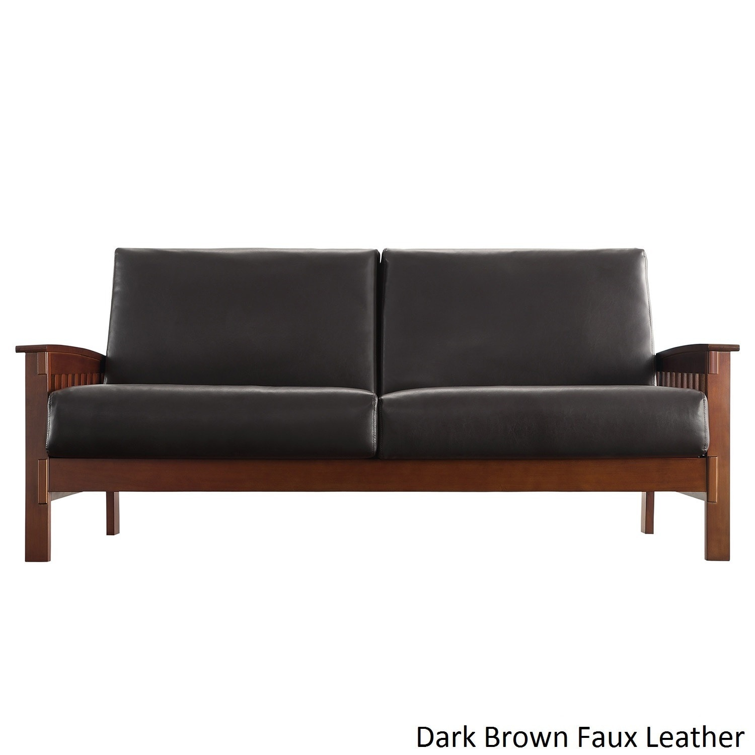 Hills Mission Style Oak Sofa By Inspire Q Clic On Free Shipping Today 3911910