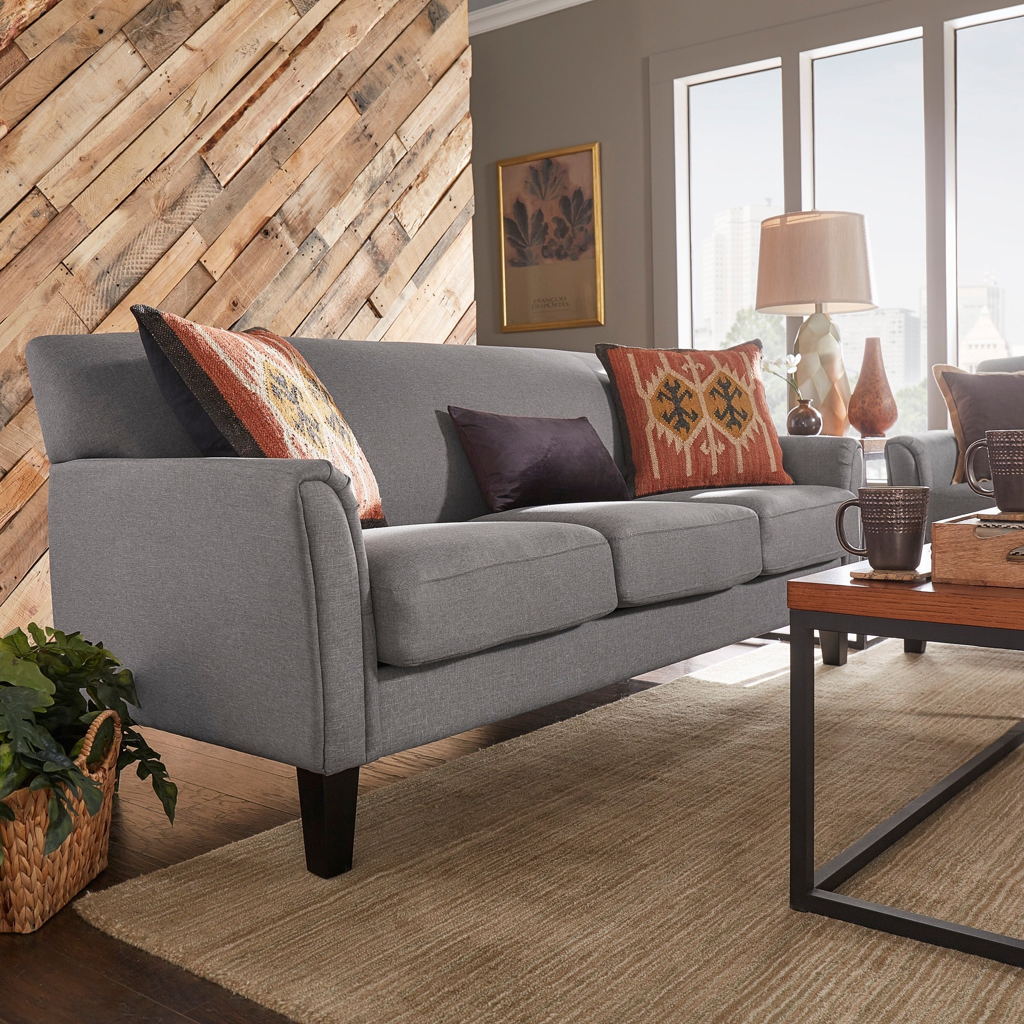 Shop uptown modern sofa by inspire q classic free shipping today overstock com 3911915