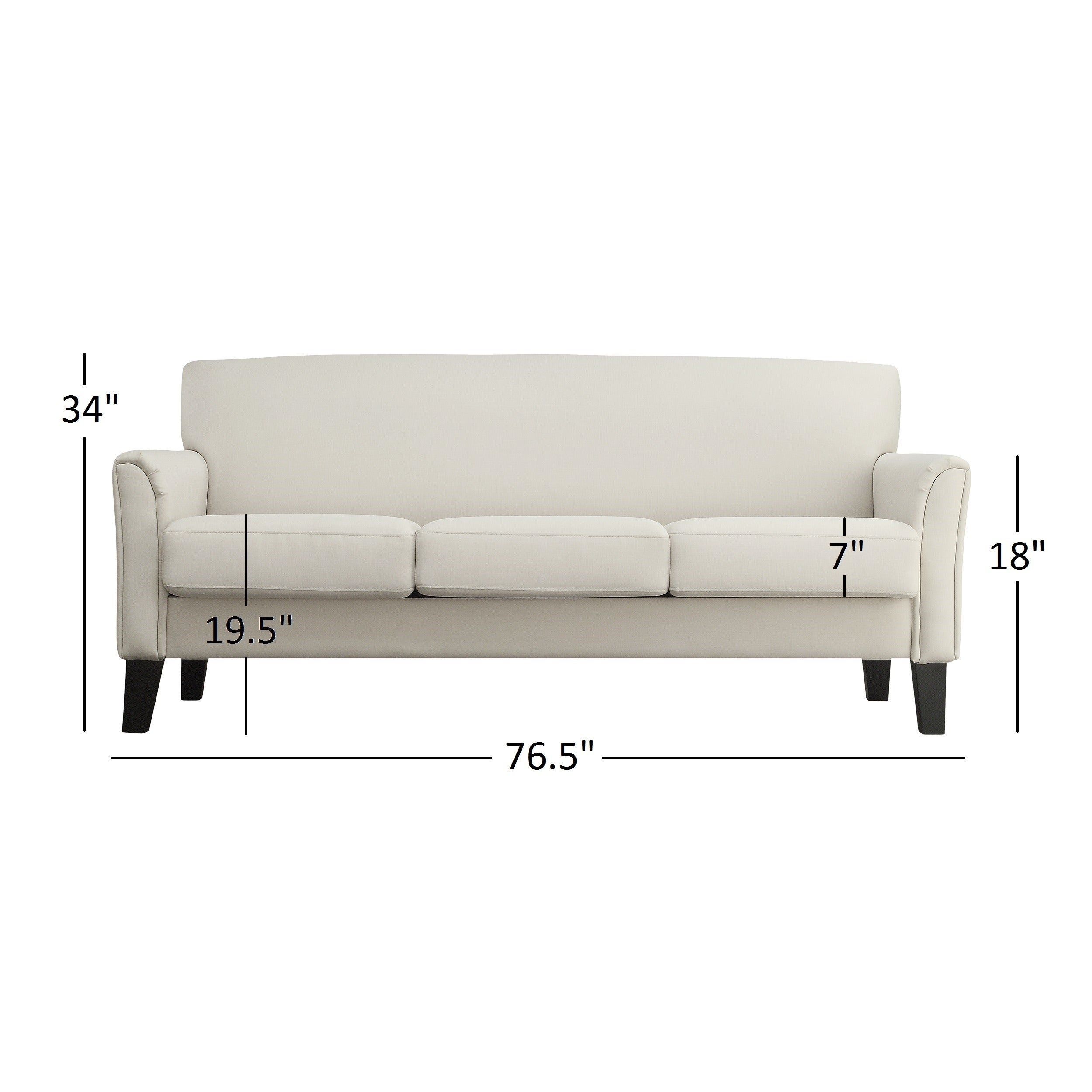 Uptown Modern Sofa By INSPIRE Q Classic   Free Shipping Today    Overstock.com   11947586