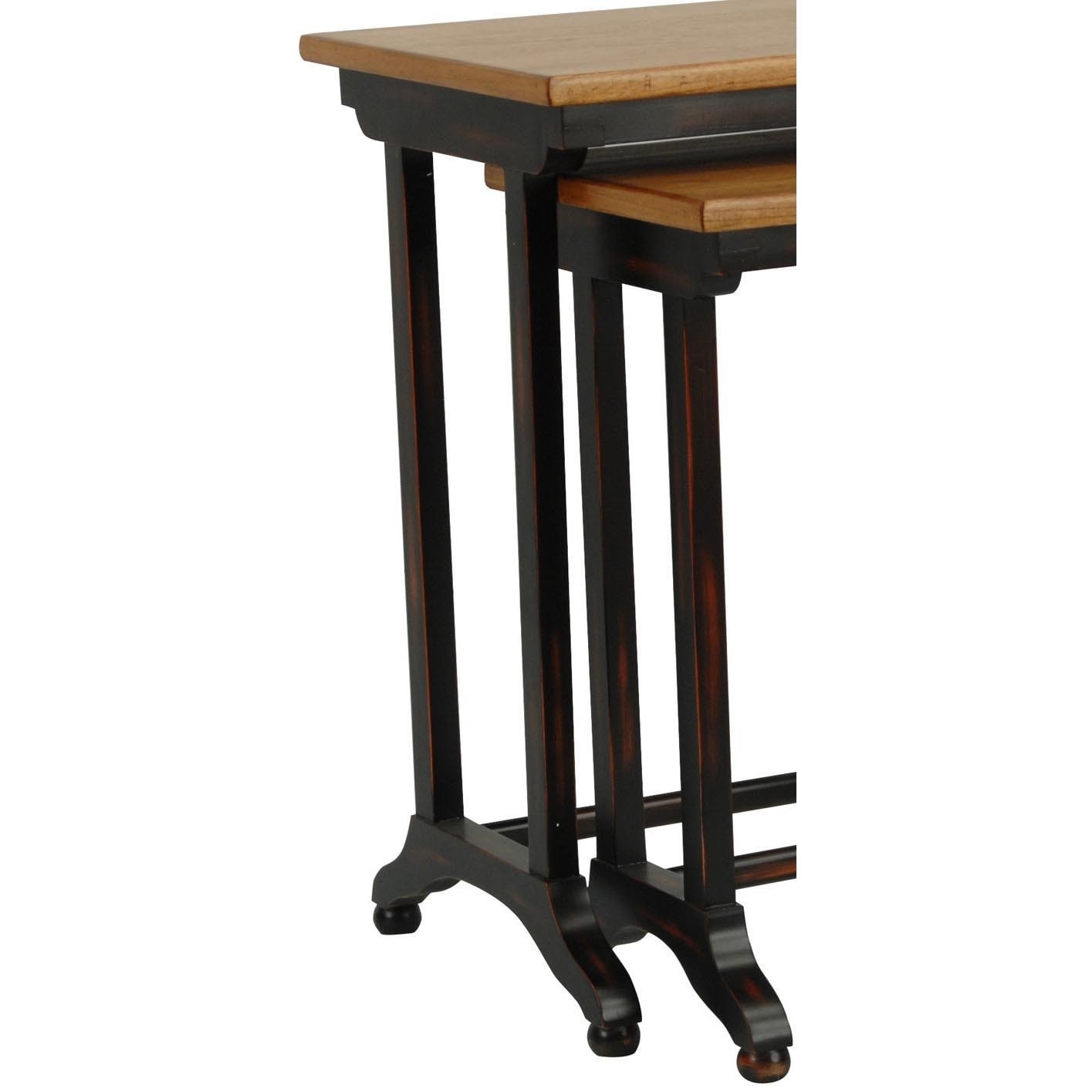 Shop Safavieh Annie Black Oak Brown Nesting Tables (Set Of 2)   Free  Shipping Today   Overstock.com   3916813