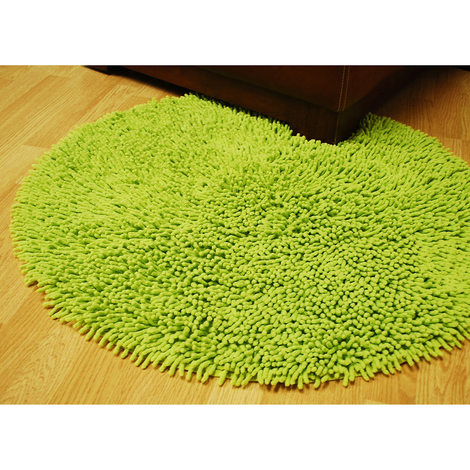 Chenille Green Rug 5 Round Free Shipping Today 11961785