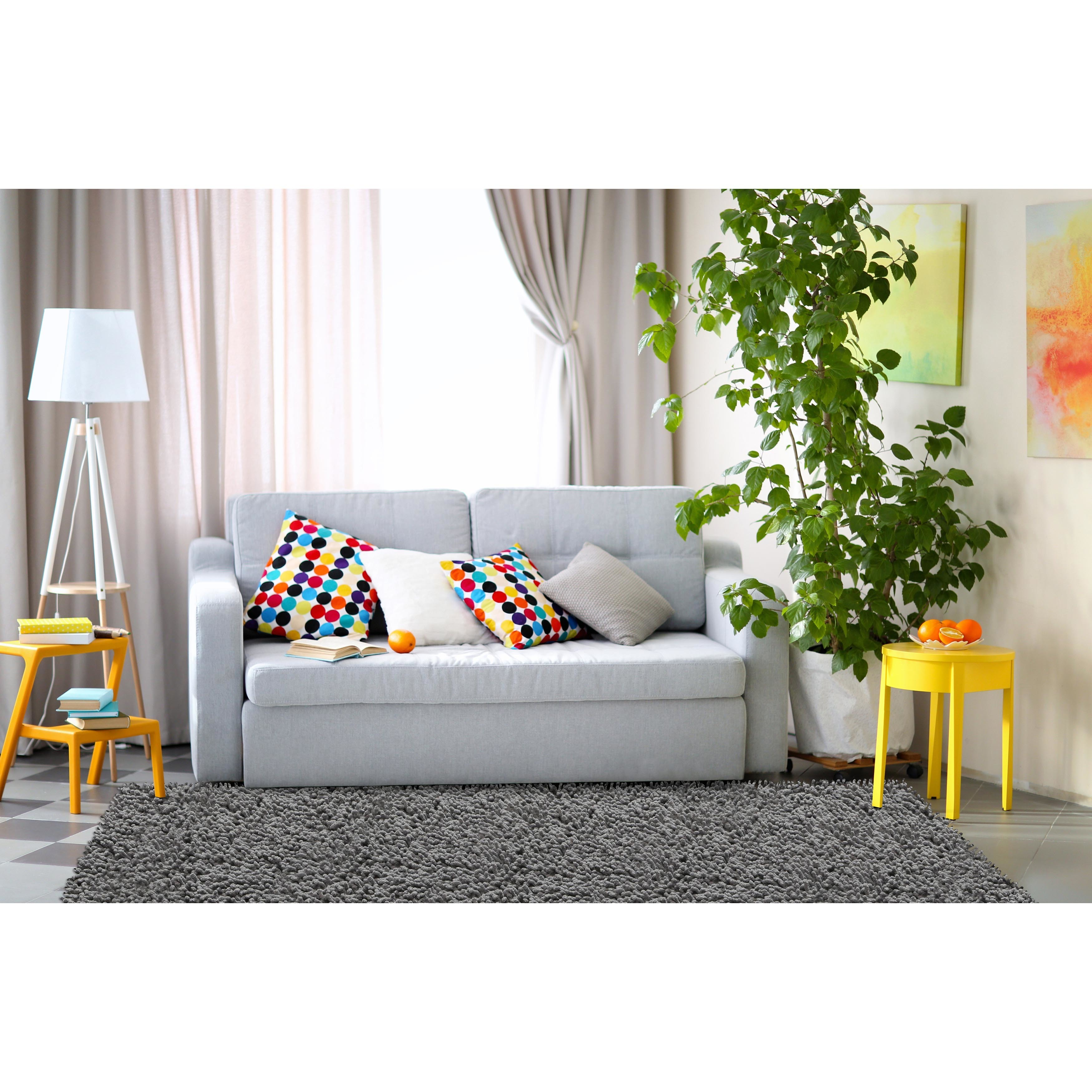 Chenille Grey Shag Rug (5\' Round) - Free Shipping Today - Overstock ...