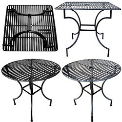 shop iron patio table with umbrella hole free shipping today overstockcom 3927306 - Patio Table With Umbrella