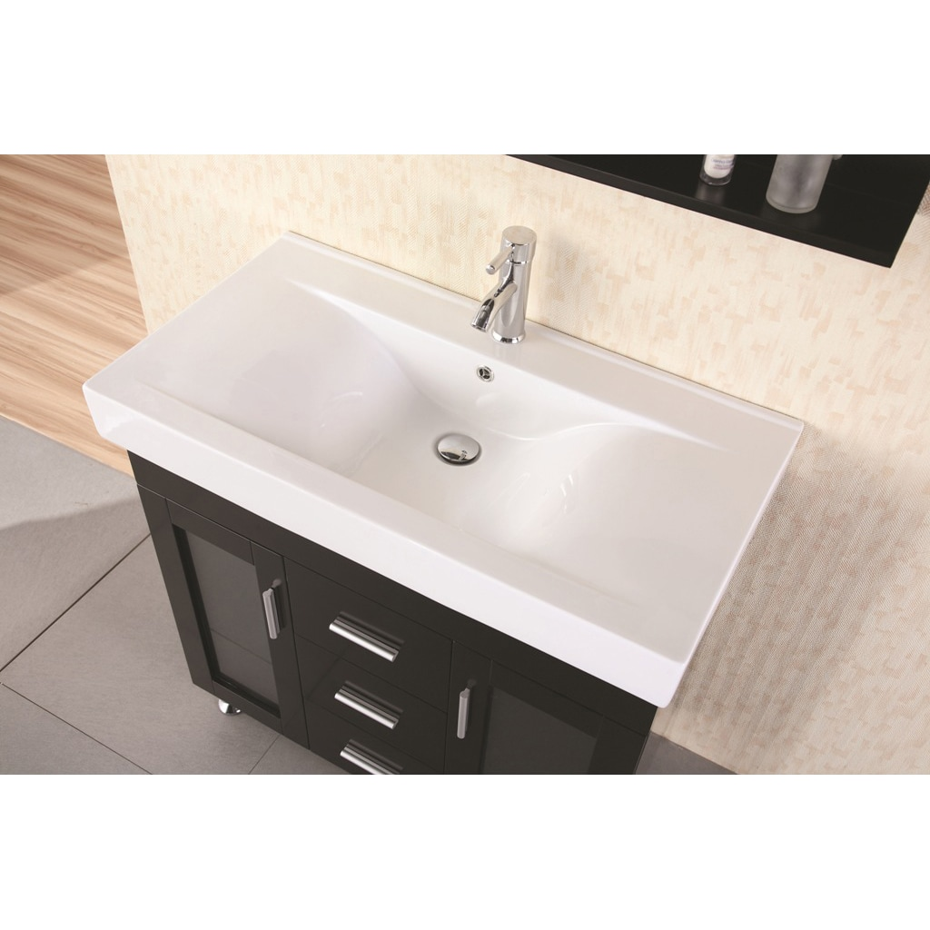 Shop Design Element Contemporary Italian Bathroom Vanity Set - Free ...