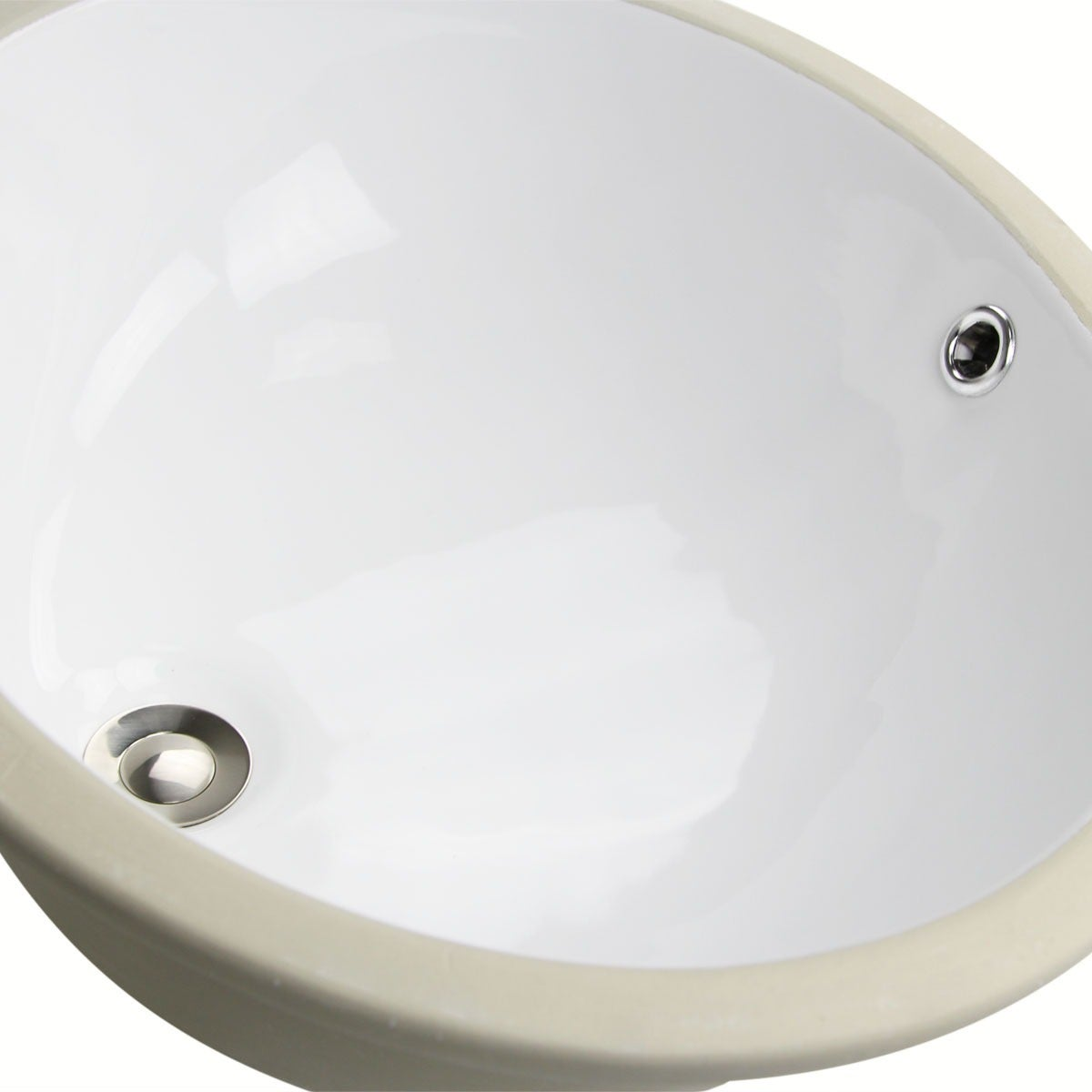 Shop Oval White 17x14 Inch Undermount Vanity Sink   Free Shipping Today    Overstock.com   3933057