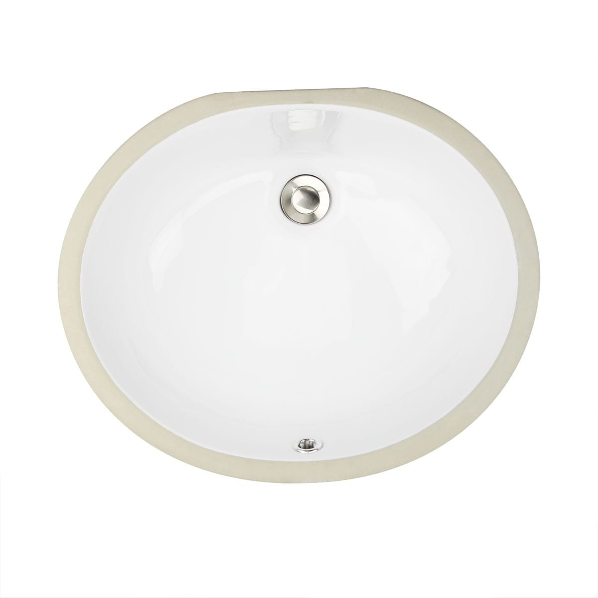 Oval White 17x14 Inch Undermount Vanity Sink Free Shipping Today 3933057